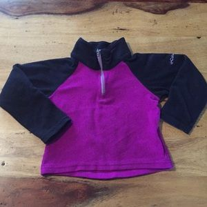 Columbia 3/4 zip fleece pullover. Girls xxs(4/5)